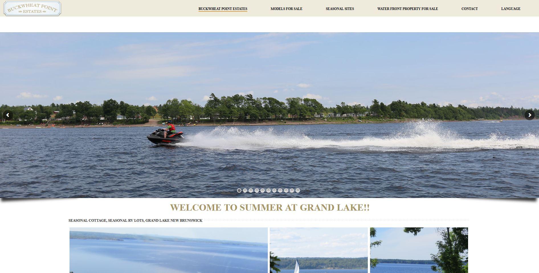 Buckwheat point Estates Website Design Internet Marketing