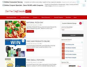 Get Free Stuff Canada Website Design Internet Marketing