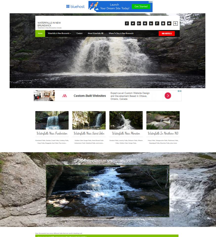 Waterfalls NB Website Design Internet Marketing